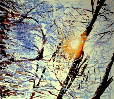 Art Print featuring the painting Winter Light by Allison Ashton