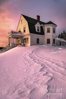 Keepers House Photograph - Winter Light At Marshall Point by Benjamin Williamson
