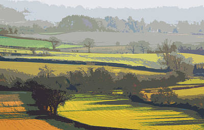 Lyth Hill 2 - Winter Light Art Print