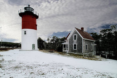 Photograph - Winter Lighthouse by Constantine Gregory