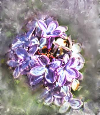 Digital Art - Winter Lilac Reverie by Aliceann Carlton