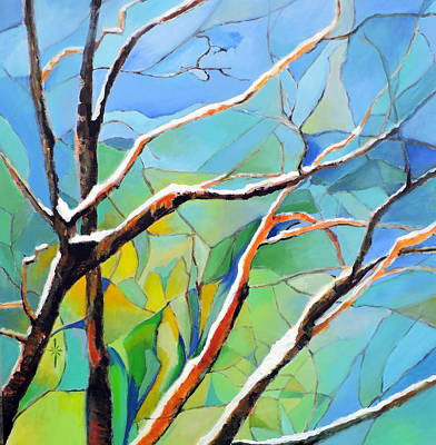 Painting - Winter Locust Tree by Jodie Marie Anne Richardson Traugott          aka jm-ART
