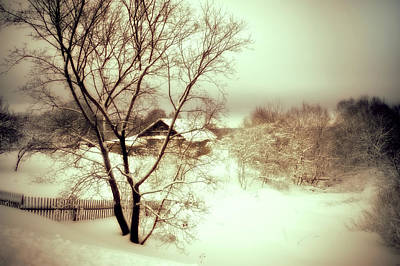 Winter Scenery Photograph - Winter Loneliness by Jenny Rainbow