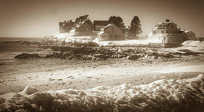 Photograph - Winter - Lord's Point - Kennebunk by Samuel M Purvis III