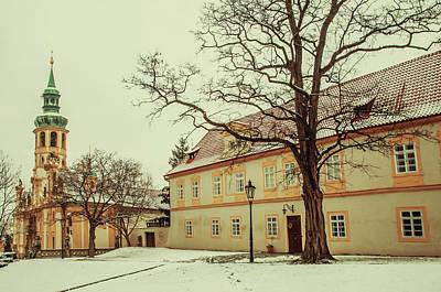 Photograph - Winter Loreta Vintage. Snowy Walk In Prague by Jenny Rainbow