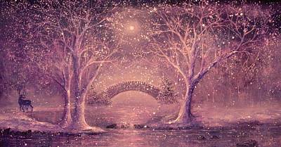 Winter Magic Art Print by Ann Marie Bone