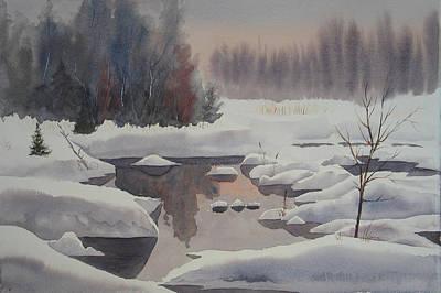 Winter Magic Art Print by Debbie Homewood