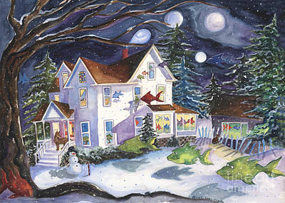 Painting - Winter Magic On High Street by Cori Caputo