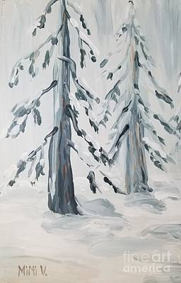 Painting - Winter by Maria Langgle