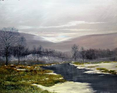 Painting - Winter Marsh by Ken Ahlering