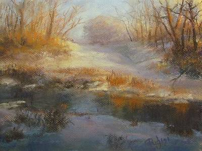 Painting - Winter Marsh Series / The Source by Bill Puglisi