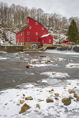 Photograph - Winter Mill by Mark Robert Rogers