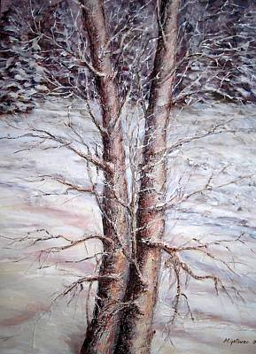 Painting - Winter by Mirjana Gotovac