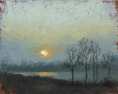 Pallet Knife Painting - Winter Mist by Timothy Jones