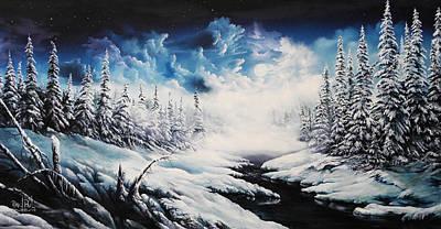 David Paul Painting - Winter Moon by David Paul