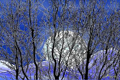 Winter Moon Art Print by John Selmer Sr