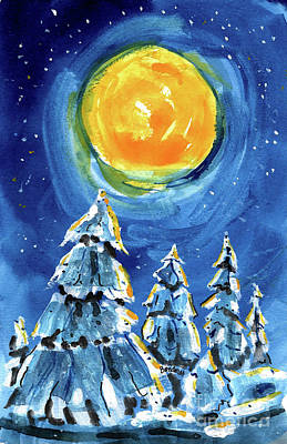 Painting - Winter Moon by Terry Banderas
