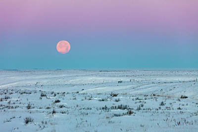 Winter Landscapes Photograph - Winter Moon by Todd Klassy