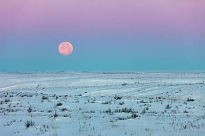 Snow Photograph - Winter Moon by Todd Klassy