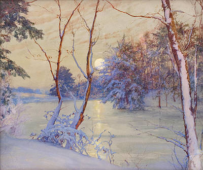 Painting - Winter Moonrise by Walter Launt Palmer