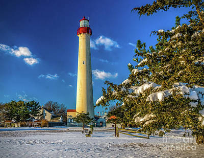 Photograph - Winter Morning At Cape May Light by Nick Zelinsky