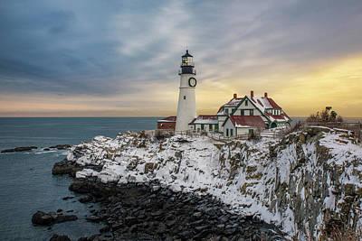 Photograph - Winter Morning At Portland Head Light by Jesse MacDonald