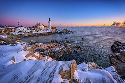 Photograph - Winter Morning At Portland Head Lighthouse by Rick Berk
