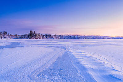 Photograph - Winter Morning Baxter Lake Nh by Jeff Sinon