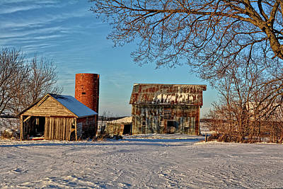 Photograph - Winter Morning Farm by Bonfire Photography