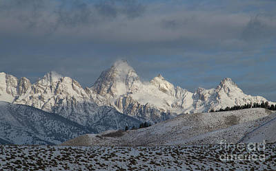 Photograph - Winter Morning - Grand Teton National Park by Sandra Bronstein