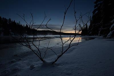 Bath Time Rights Managed Images - Winter Morning Hike at Kakabeka Falls 2 Royalty-Free Image by Jakub Sisak