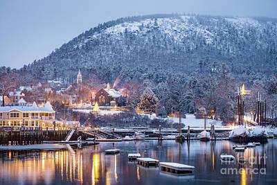 Photograph - Winter Morning In Camden Harbor by Benjamin Williamson
