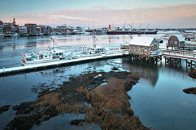 Photograph - Winter Morning In Portsmouth Harbor by Eric Gendron