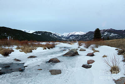 Big Thompson River Photograph - Winter Morning In Rocky Mountain National Park, Estes Park, Colo by Ronda Kimbrow