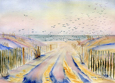 Painting - Winter Morning by Melly Terpening