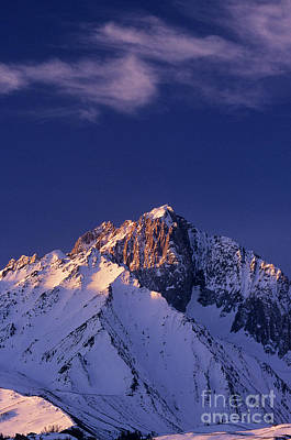 Photograph -  Winter Morning Mount Morrison Eastern Sierras California by Dave Welling