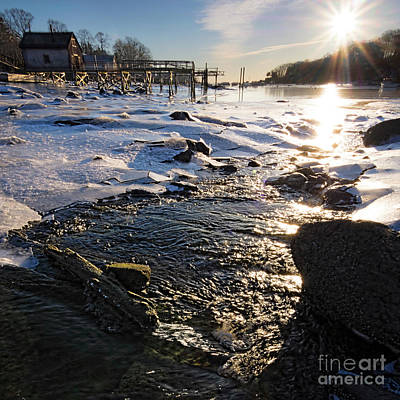 Photograph - Winter Morning, New Harbor, Maine  -81402-81404 by John Bald