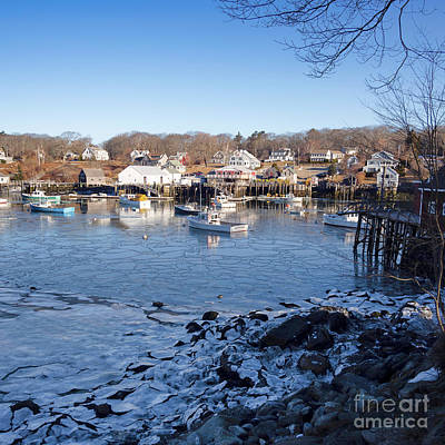 Photograph - Winter Morning, New Harbor, Maine  -81463 by John Bald
