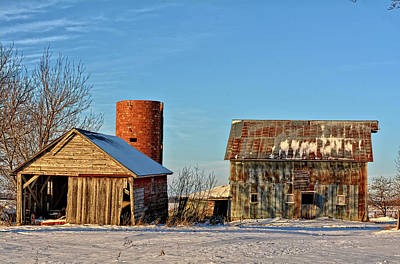 Photograph - Winter Morning On The Farm by Bonfire Photography