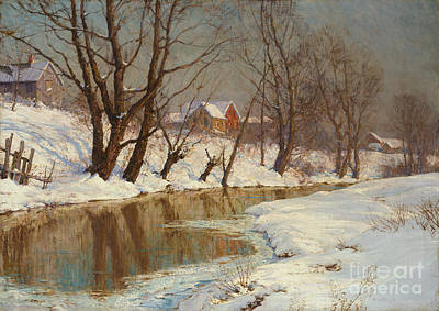 Pond Painting - Winter Morning by Walter Launt Palmer