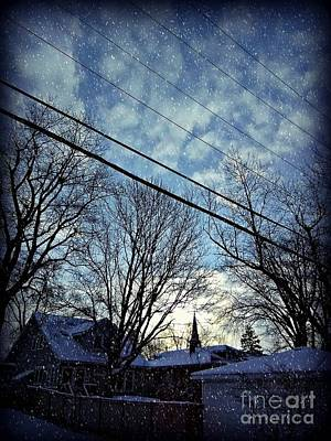 Frank J Casella Royalty-Free and Rights-Managed Images - Winter Morning Weather by Frank J Casella