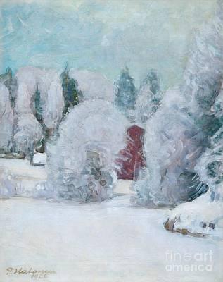 Pekka Wall Art - Painting - Winter Motif by Celestial Images