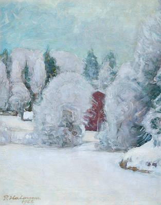 Pekka Wall Art - Painting - Winter Motif by Pekka Halonen