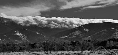 Photograph - Winter Mountain Cloud Blanket by Kevin Munro