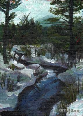 Painting - Winter Mountain Creek by Claire Gagnon