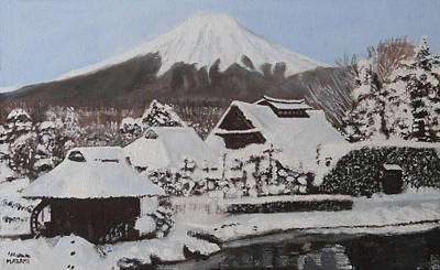 Painting - Winter Mountain by Masami Iida