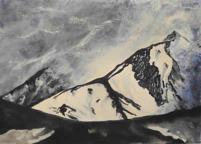 Painting - Winter Mountains by Betty-Anne McDonald