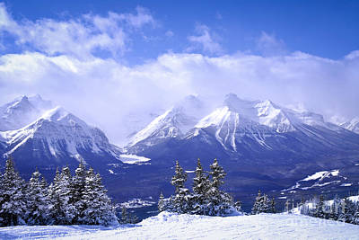 Banff Canada Photograph - Winter Mountains by Elena Elisseeva