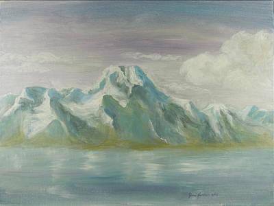 Winter Mountains Art Print by Joni Herman