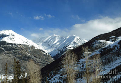 Photograph - Winter Mountains by Mary Haber